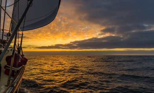 One of the rewards for night sailing is the dawn. Frequently spectacular and always welcome - we approcah Cabo San Lucas